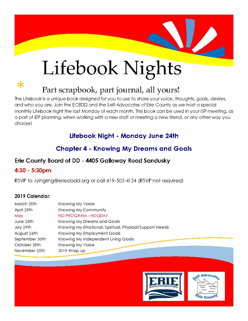 Life Book Nights graphic