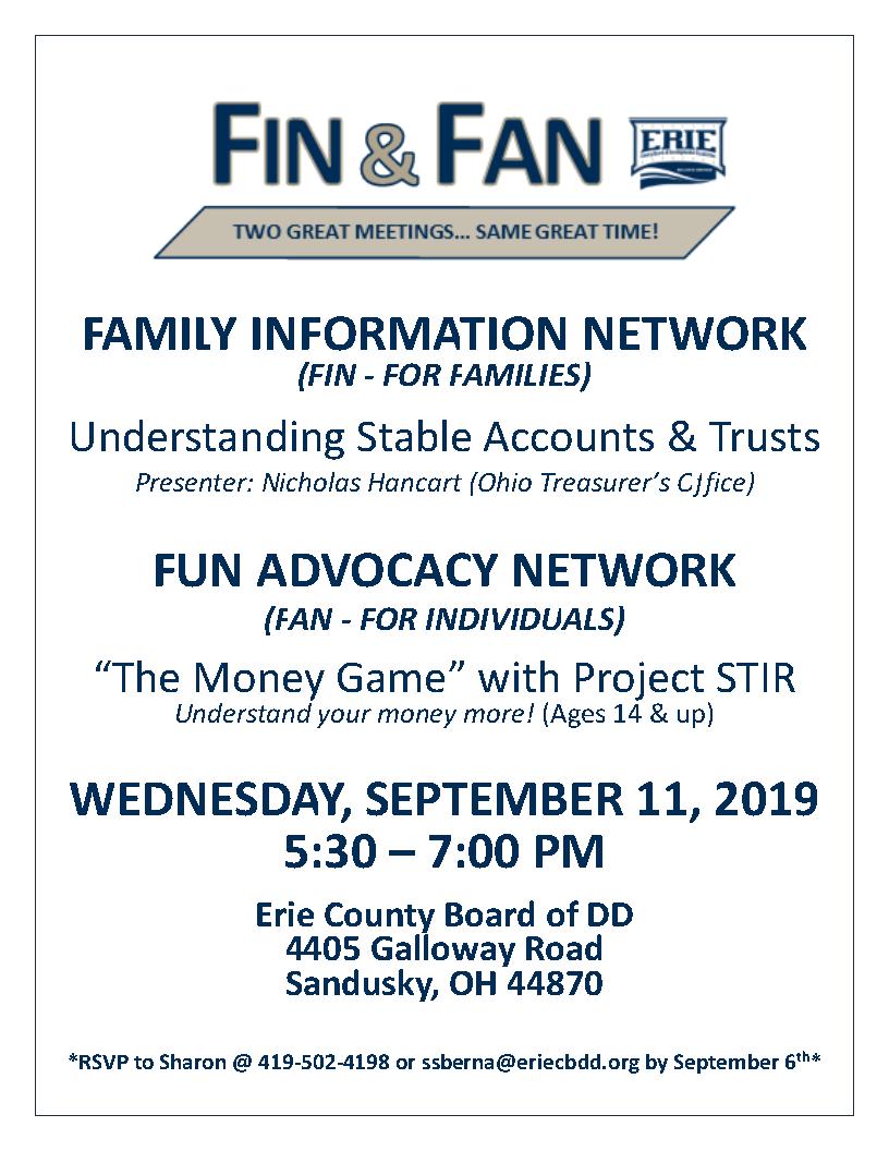September FIN & FAN Meeting