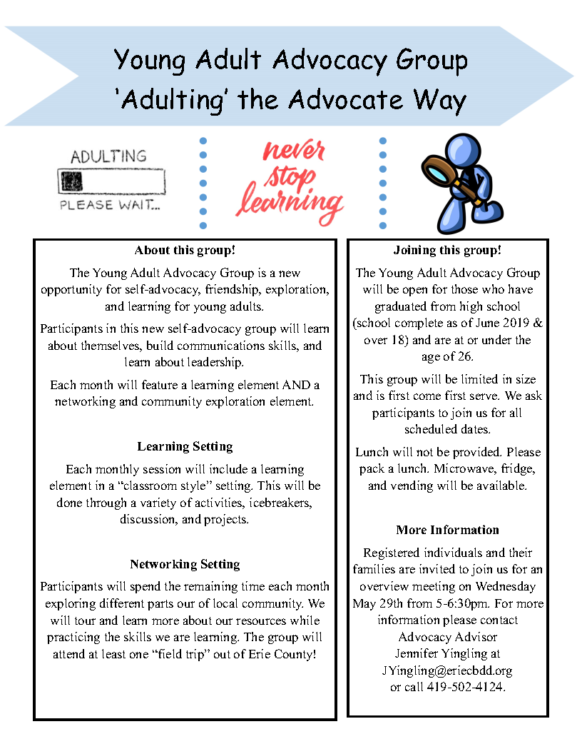 Young Adult Advocacy Group 'Adulting' the Advocate Way