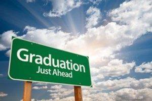 graduation ahead sign
